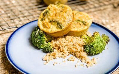 Broccoli Quinoa Egg Muffins
